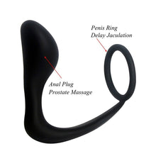Male Prostate Massage & Anal Plug Anal Silicone Prostate Stimulator Butt Plug Delay Ejaculation Ring For Men Gays
