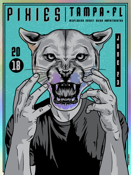 Pixies 06/23/2018 Tampa Poster (Foil)