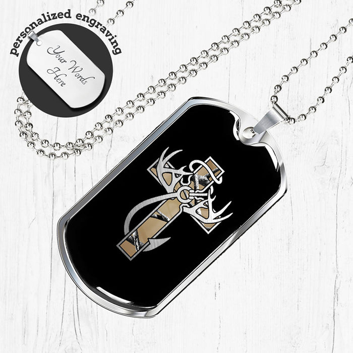 """Hunting, Faith & Fishing"" Camo Dog Tag"