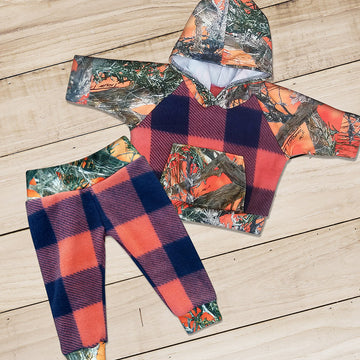 Blaze Camo & Plaid Sweat Set