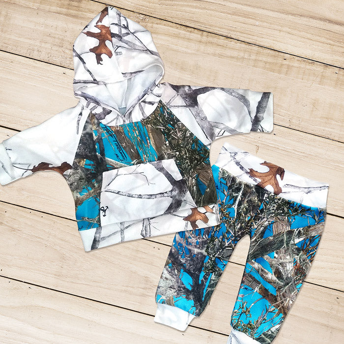 Blue & Snow Camo Sweat Set