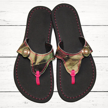 Camo Flip Flops with New Ultra Comfort Sole
