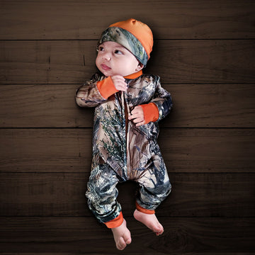 Camo Baby Zipper Jumpsuit