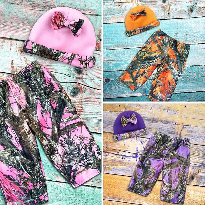 Camo Hat & Pants Set