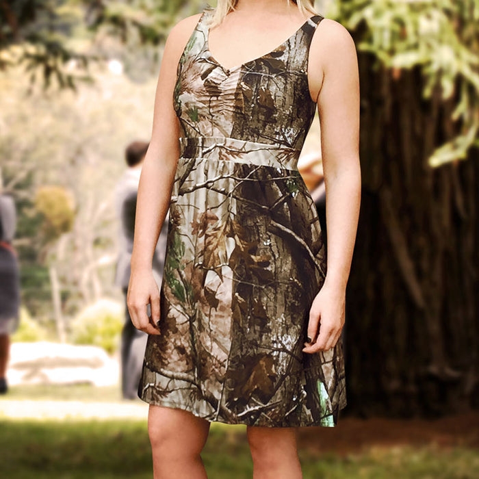 Camo Tank Bridesmaids Dress