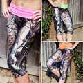 Camo Capris with Colored Waistband