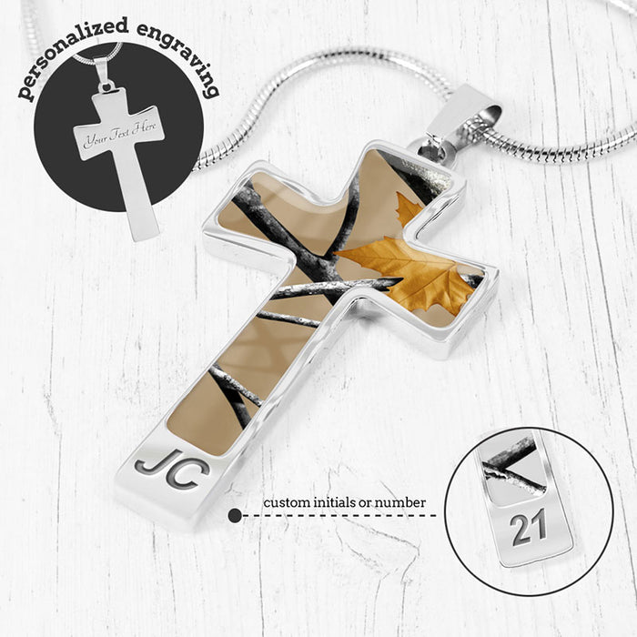 Camo Cross Necklace