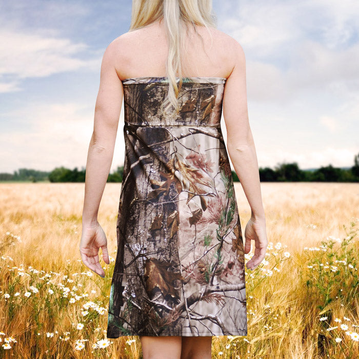 Strapless Camo Dress