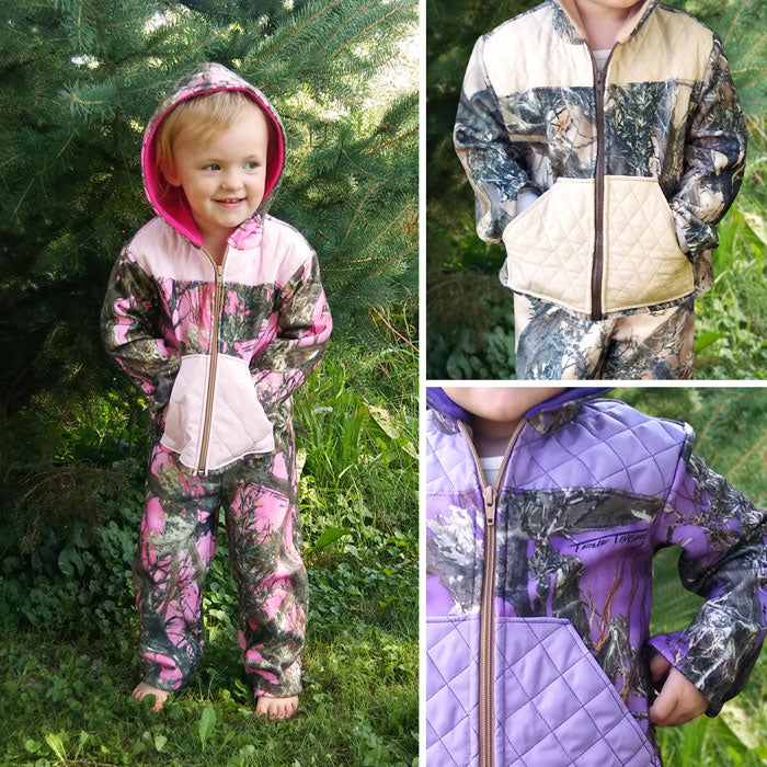 Camo Zip-up Jacket & Pants Set