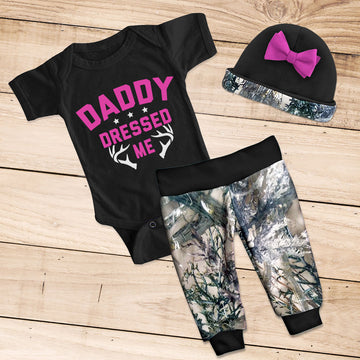 DADDY DRESSED ME 3-piece Camo Set