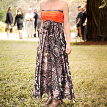 Camo & Blaze Full-length Dress