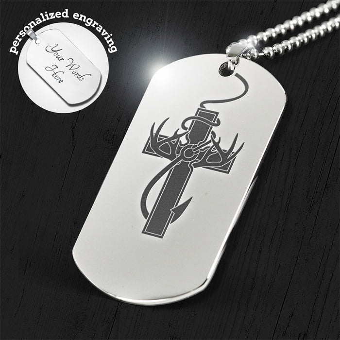 """Hunting, Faith & Fishing"" Engraved Dog Tag"