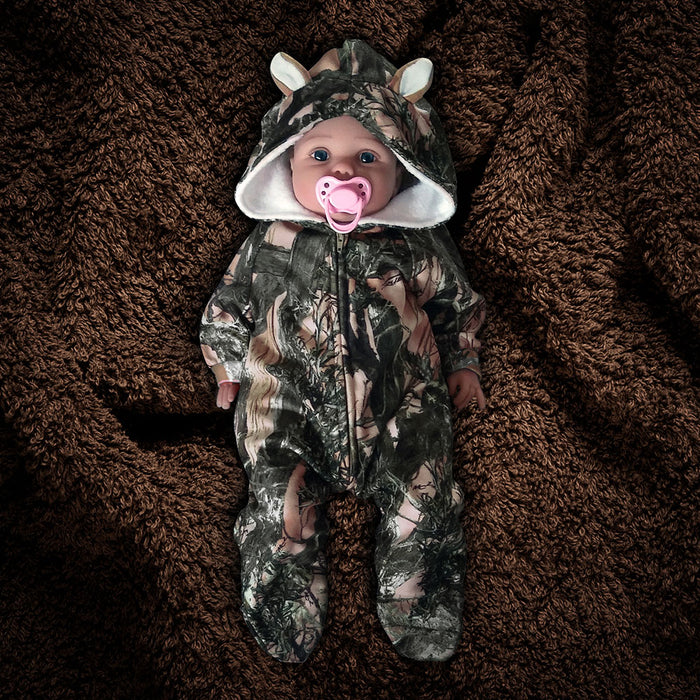 "The ""Huntsie"" Fleece Onesie Jumpsuit with Hood"