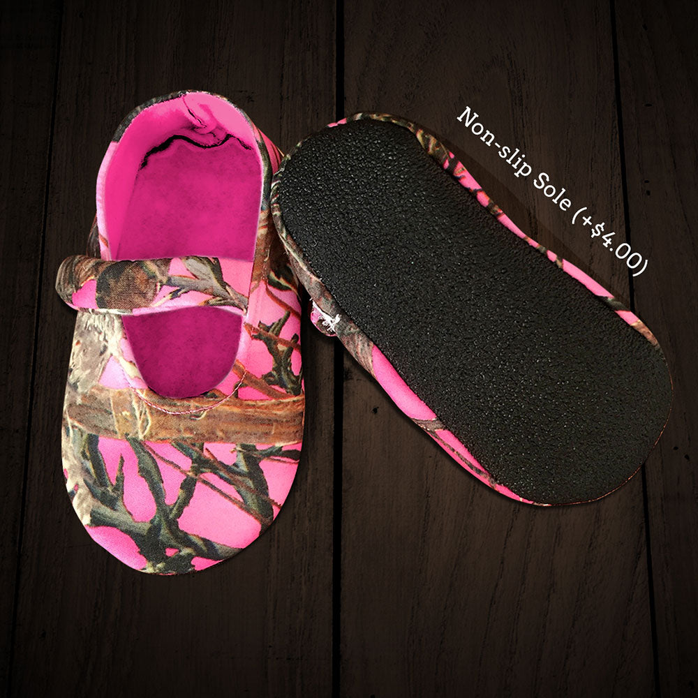 Pink Camo Baby Slip-ons