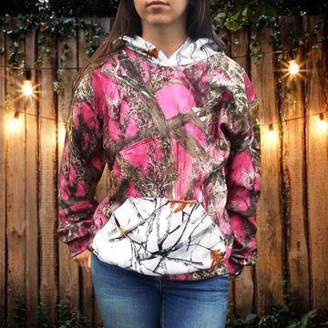 Women's Hooded Camo Sweatshirt