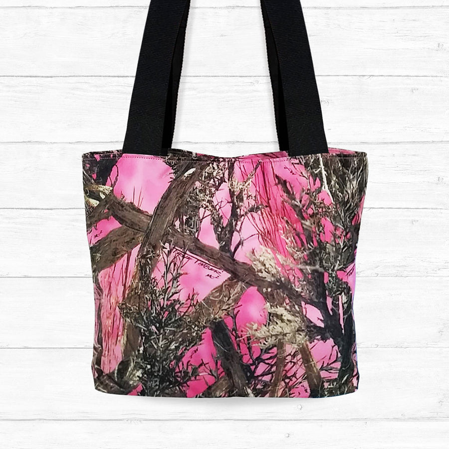 Large Pink Camo Shoulder Bag