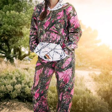 Women's Camo Sweatshirt & Pants Set