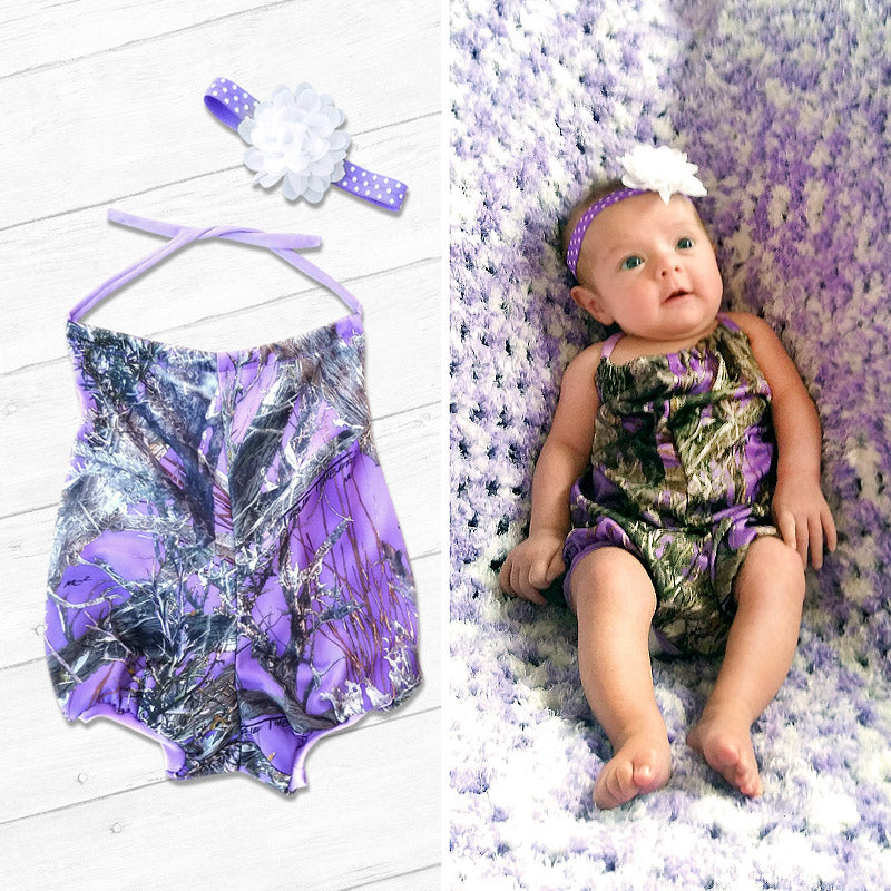 Camo Summer Romper Set