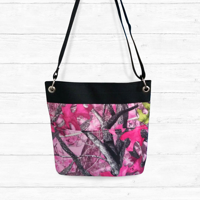 Sassy-B Camo Crossbody Bag with Black Trim