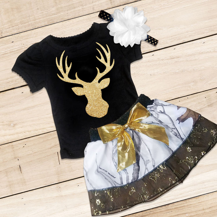 Snow Camo, Black & Gold Set