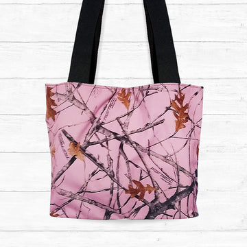 Large Snowfall Pink Camo Shoulder Bag