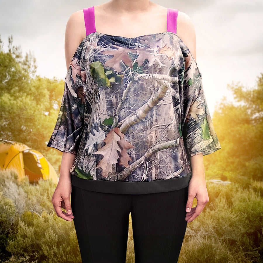 Camo Off-The-Shoulder with Straps