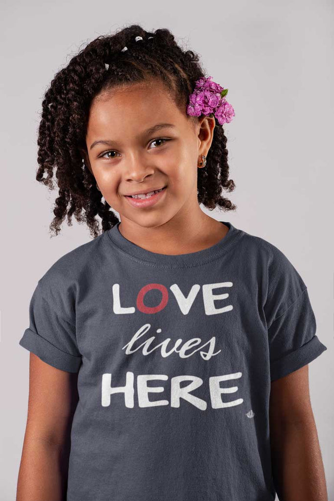 Love Lives Here - Youth Cotton T-Shirt