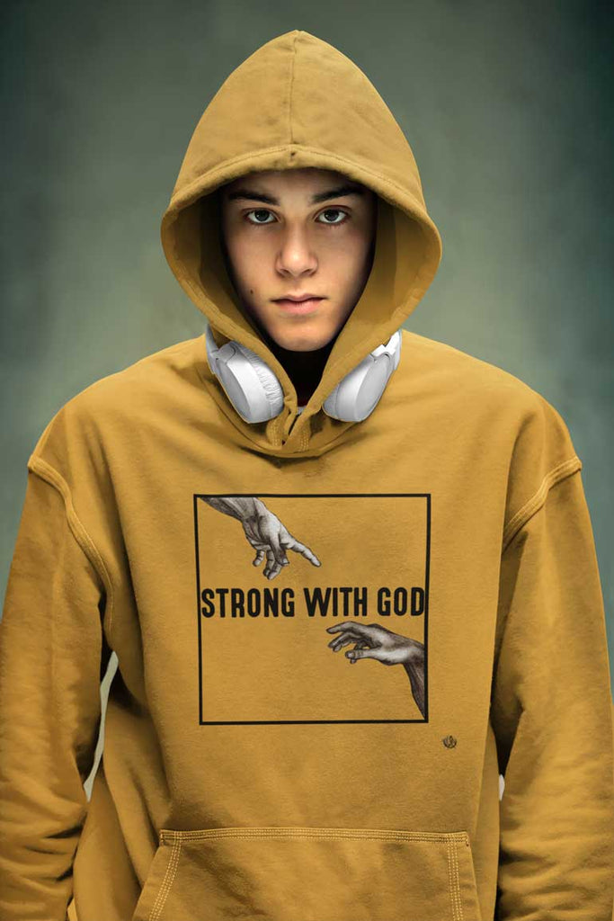 Strong With God -  Men's Pullover Hoodie