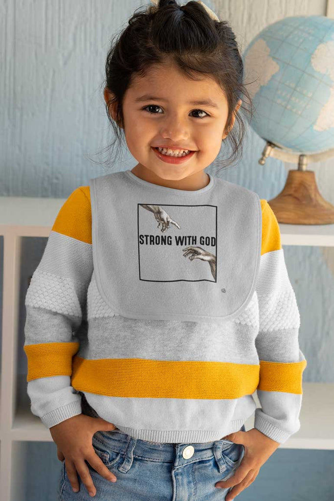 Strong With God - Baby Bib
