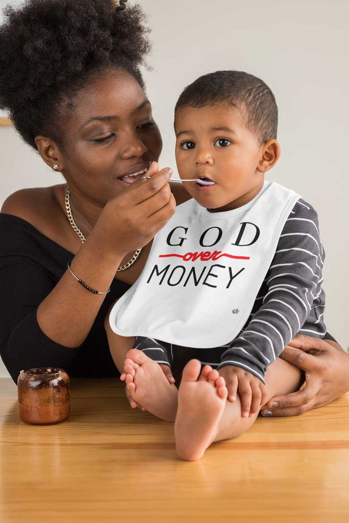 God Over Money - Baby Bib