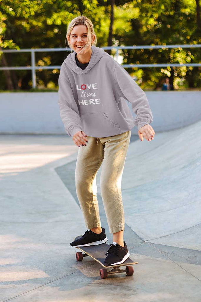 Love Lives Here - Youth Pullover Hoodie
