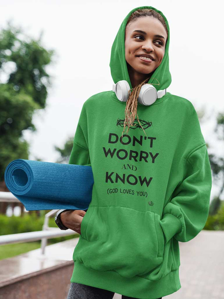 Don't Worry, Know - Ladies' Pullover Hoodie