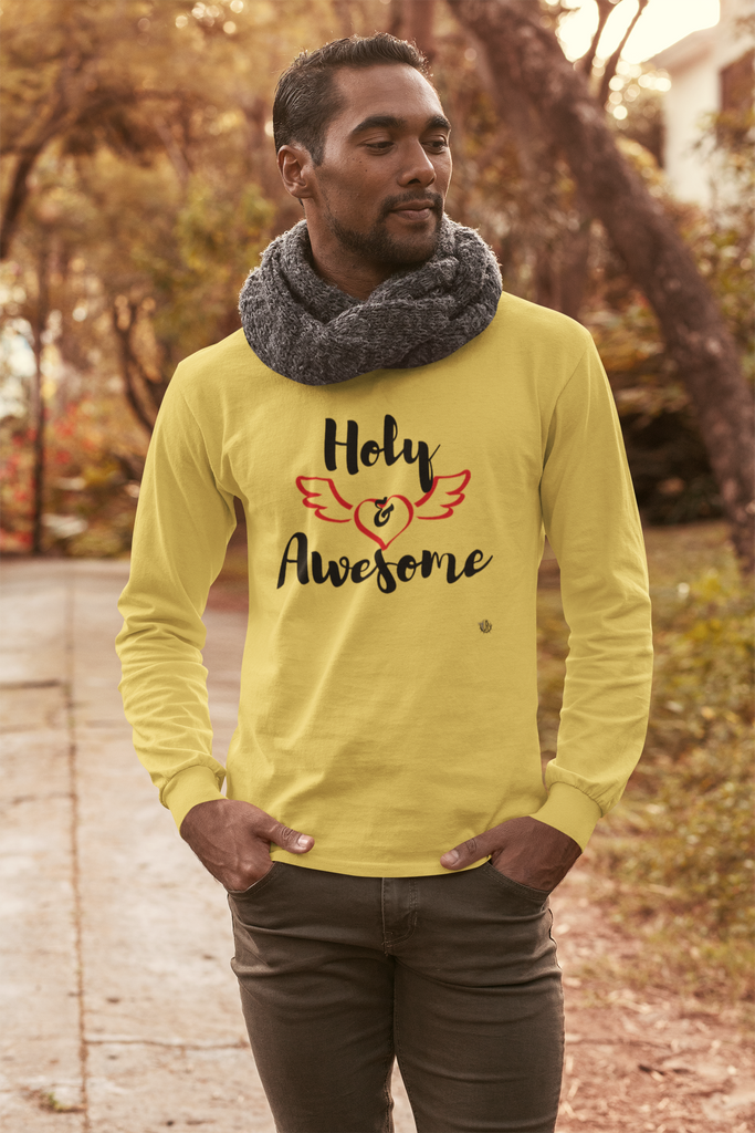 Holy & Awesome - Men's Long Sleeve Shirt