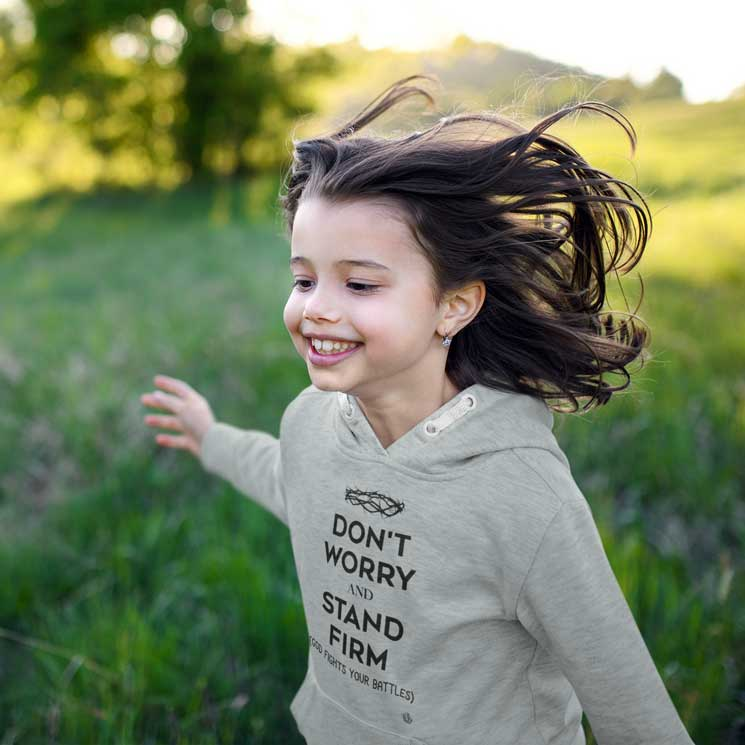 Don't Worry, Stand Firm - Toddler Fleece Hoodie