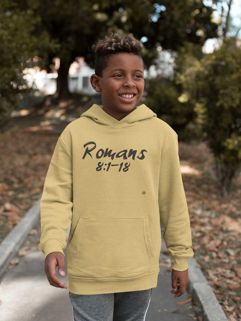 Romans 8:1-18 - Youth Pullover Hoodie