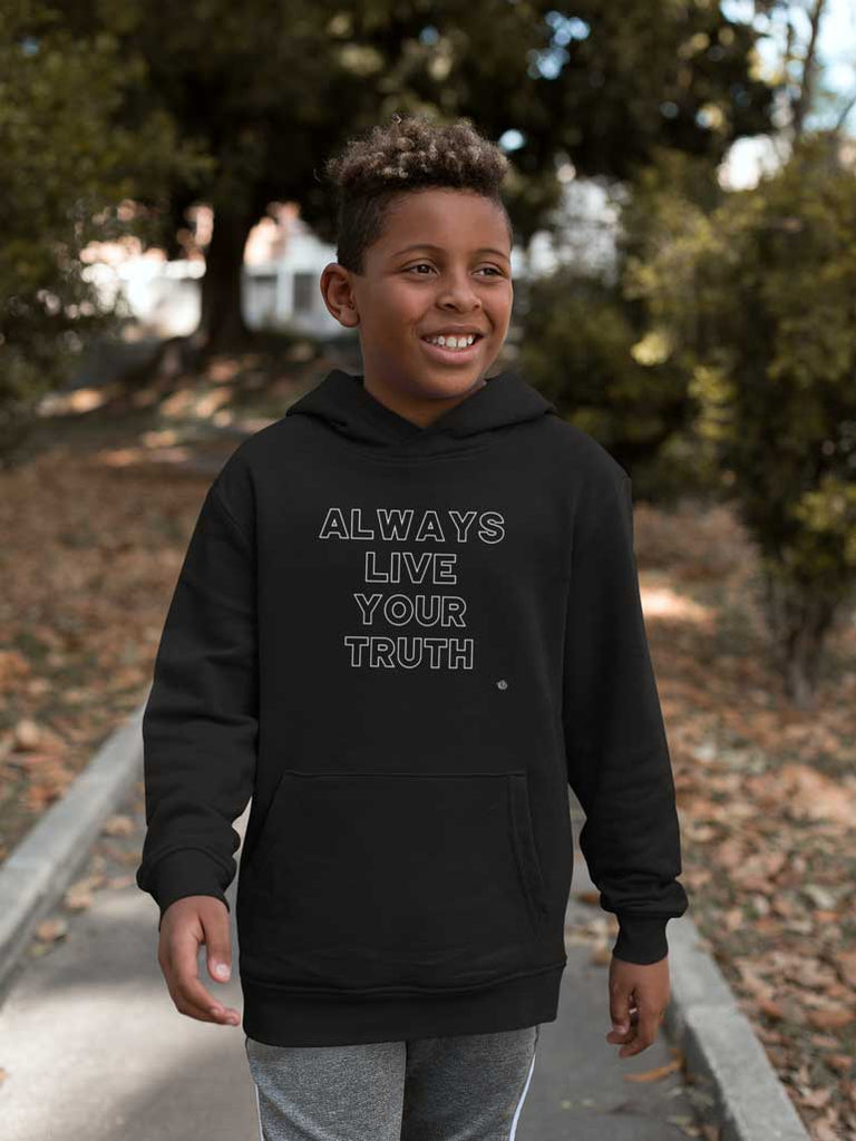 Always Live Your Truth - Youth Pullover Hoodie