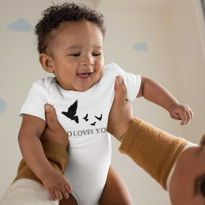 God Loves You - Baby Onesie 6 Month