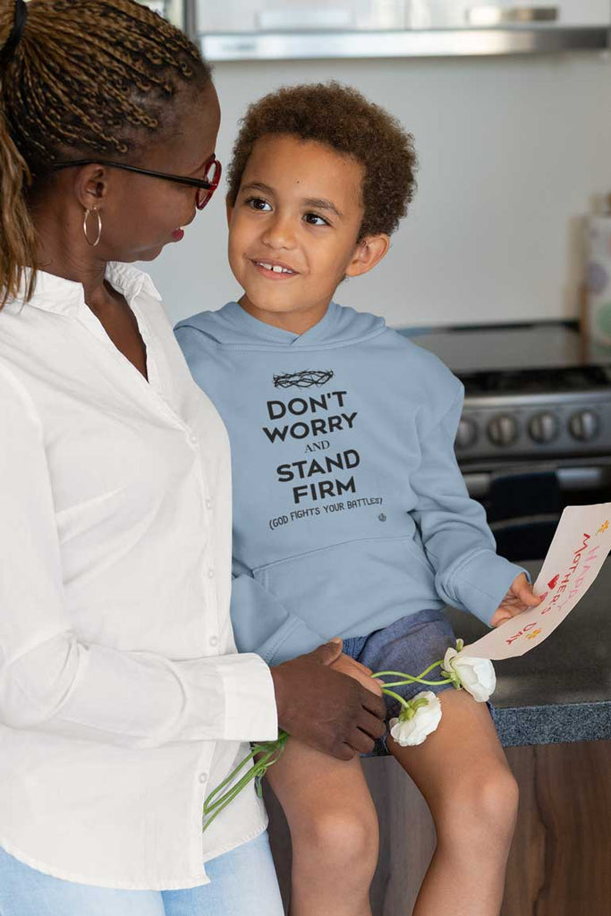 Don't Worry, Stand Firm - Youth Pullover Hoodie