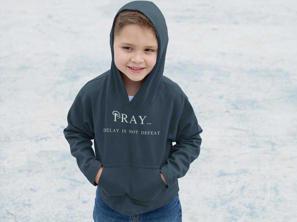 Pray Delay - Toddler Fleece Hoodie
