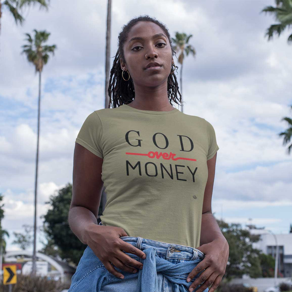 God Over Money - Ladies' T-Shirt