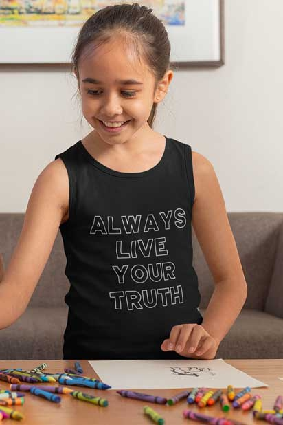 Always Live Your Truth - Youth Jersey Tank