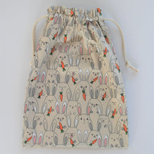 Easter bag that can be used as a toy bag, daycare bag or a library/book bag. Great gift idea for those who don't want to give chocolate this Easter and something that can be kept for years to come. All handmade using 100% cotton.