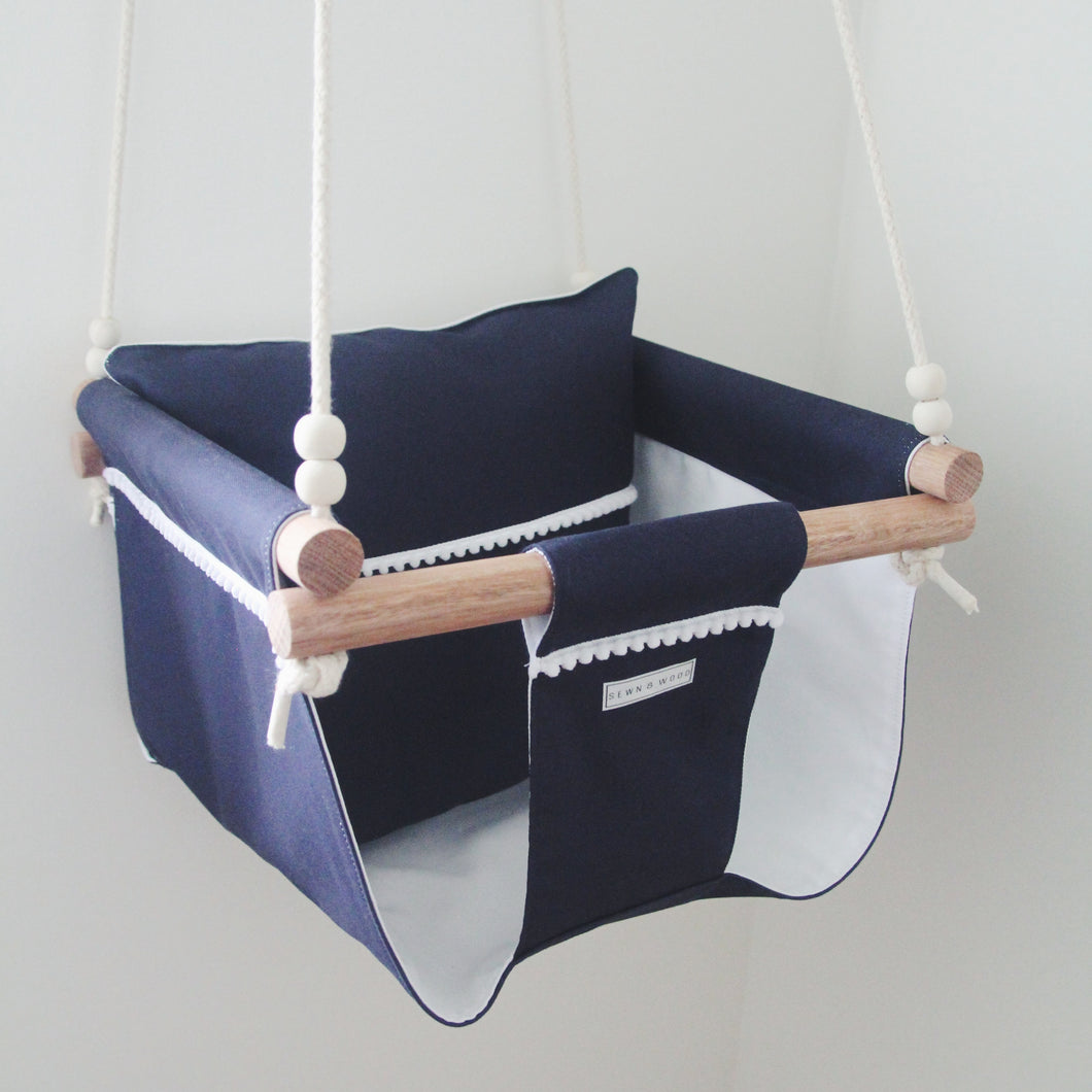 NAVY BLUE POM POM SWING