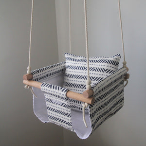 WHITE & BLUE AZTEC SWING