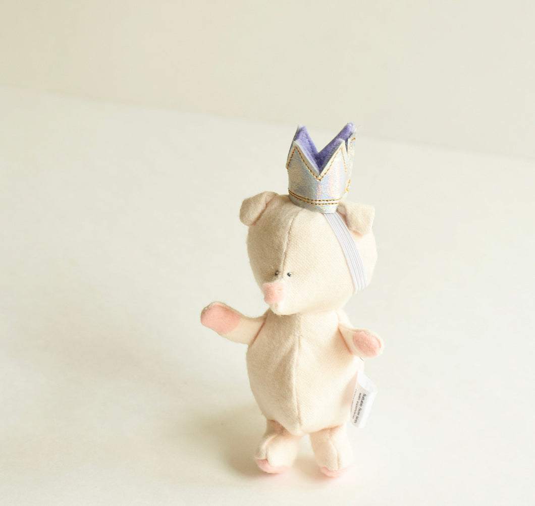 Piggy Princess Friend, Handmade organic critter friend