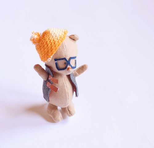 Hipster bear friend  in glasses