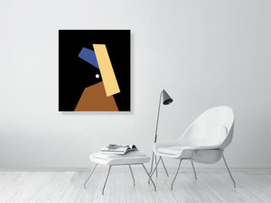 Girl With A Pearl Earring Minimalist Portrait C-Type - ART GOODS SHOP