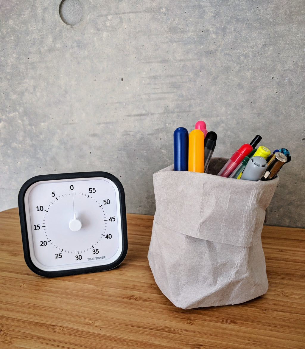 Stylish Multifunction Kraft Paper Storage Bag +Reuse +Washable for Modern Design Office  - ART GOODS SHOP