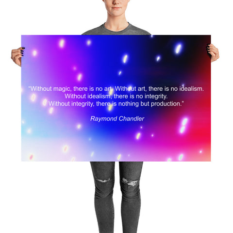 "Premium Art poster ""Without magic, there is no art"" - ART GOODS SHOP"