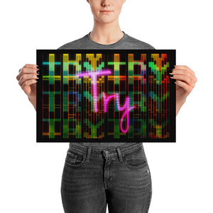 "Premium Art poster ""A Digi Font Collage / A Fontage""  - ART GOODS SHOP"